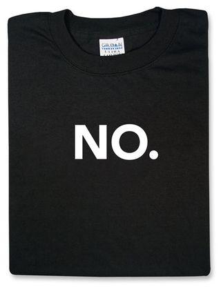 NO shirt
